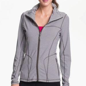 Lole Striped Essential Zip Cardigan